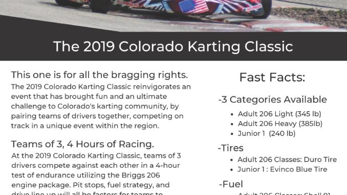 2019 Colorado Karting Classic Event www.thecoloradokarter.com