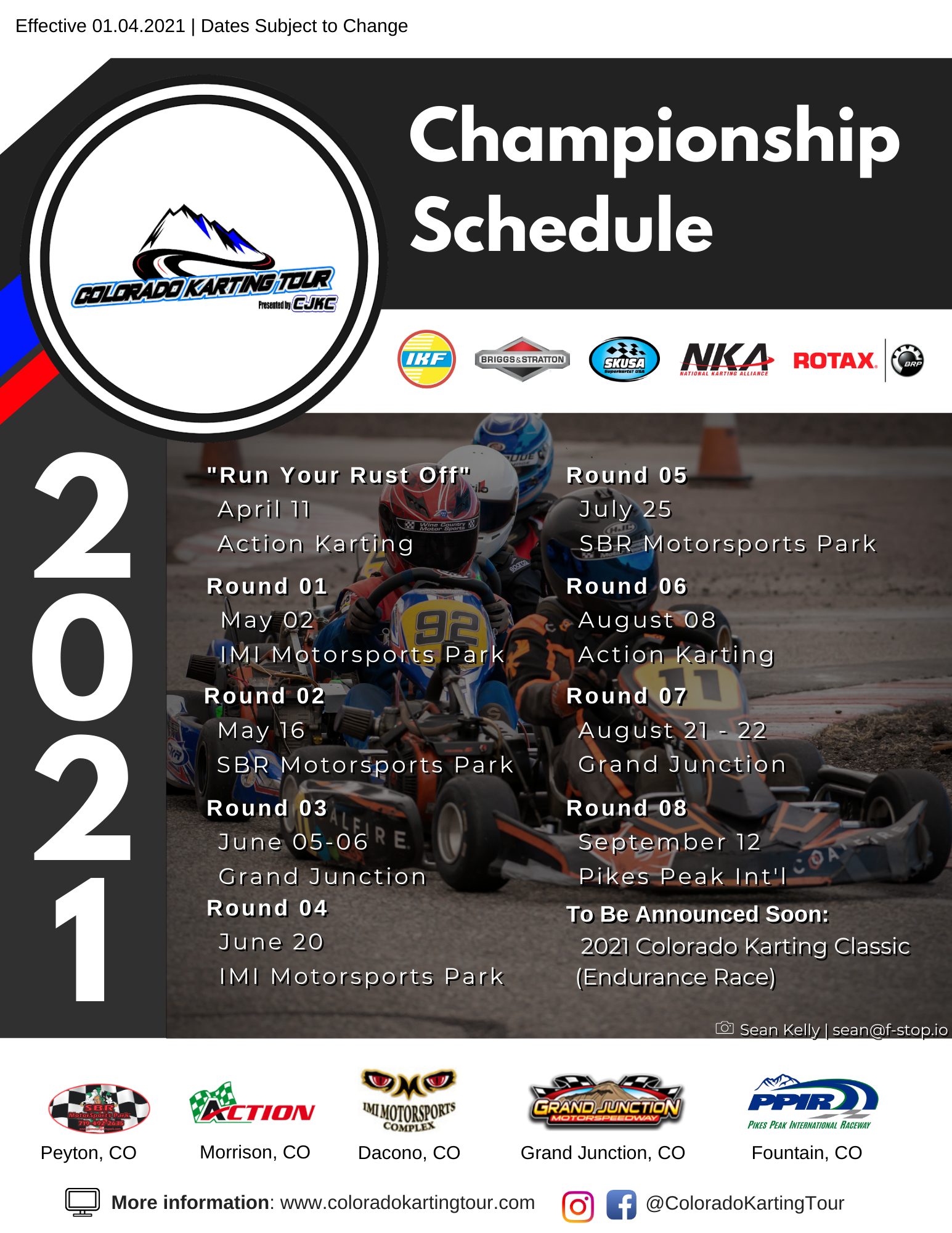 2021 Colorado Karting Tour Schedule